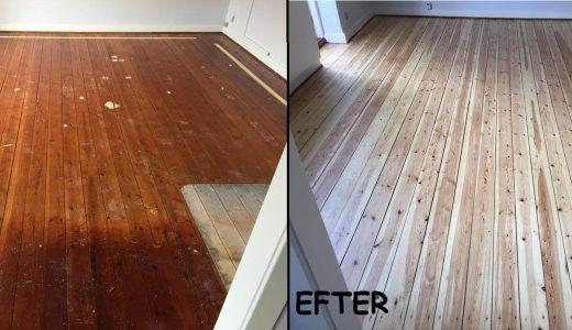 Nyt liv til gamle gulve med en gulvafslibning